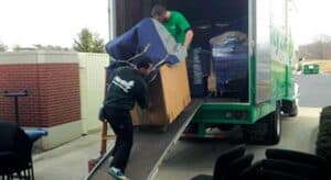 moving service loading truck