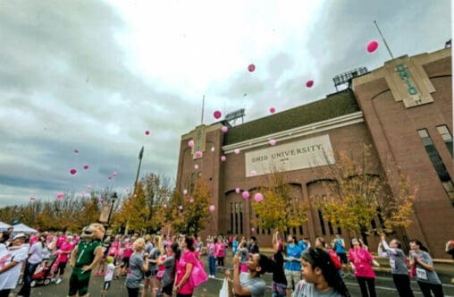 Supporting the Susan G. Komen Race for the Cure in Athens Ohio